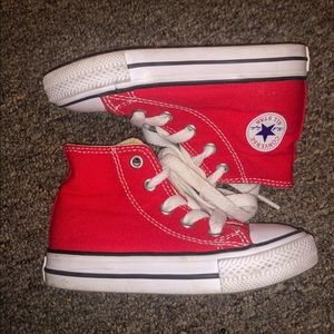 Size 5C Red Converse High Tops